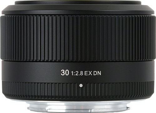 Sigma's 30mm F2.8 EX DN lens. Photo provided by Sigma Corp. Click for a bigger picture!