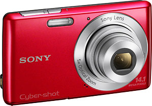Sony's Cyber-shot DSC-W620 digital camera. Photo provided by Sony Electronics Inc. Click for a bigger picture!
