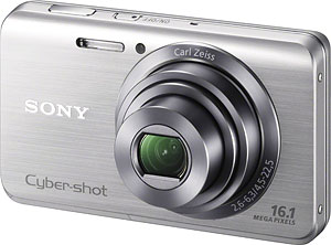 Sony's Cyber-shot DSC-W650 digital camera. Photo provided by Sony Electronics Inc. Click for a bigger picture!