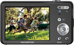 Olympus' VG-150 digital camera. Photo provided by Olympus Corp. Click for a bigger picture!