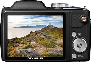 Olympus' SP-720UZ digital camera. Photo provided by Olympus Corp. Click for a bigger picture!