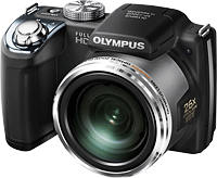 Olympus' SP-720UZ digital camera. Photo provided by Olympus Corp.