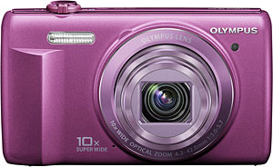 Olympus VR-340 digital camera. Photo provided by Olympus Corp. Click for a bigger picture!