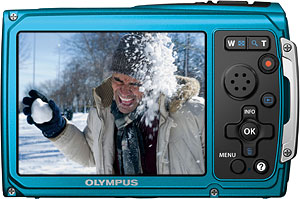 Olympus' Tough TG-320 digital camera. Photo provided by Olympus Corp. Click for a bigger picture!