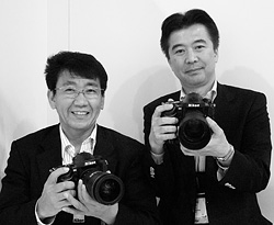 Nikon's Kenji Suzuki and Toshiaki Akagi. Copyright © 2012, Imaging Resource. All rights reserved. Click for a bigger picture!