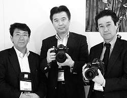 Nikon's Kenji Suzuki, Toshiaki Akagi, and Yasuhiro Nozaki. Copyright © 2012, Imaging Resource. All rights reserved. Click for a bigger picture!