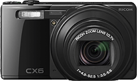 Ricoh's CX6 digital camera. Photo provided by Ricoh. Click for a bigger picture!