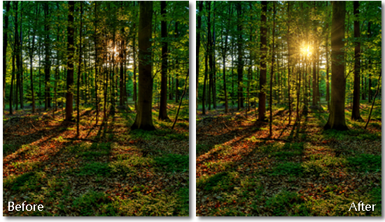 Before and after demonstration of Topaz Labs' upcoming Star Effects plugin. Image courtesy of Topaz Labs.