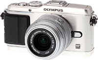 Olympus' E-P3 digital camera. Click here to read our Olympus E-P3 review!