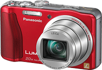 Panasonic's Lumix DMC-ZS20 digital camera. Photo provided by Panasonic Corp. Click for our Panasonic ZS20 preview!