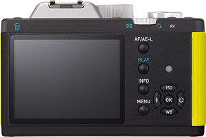 Pentax's K-01 compact system camera. Photo provided by Pentax Ricoh Imaging Co. Ltd. Click for a bigger picture!