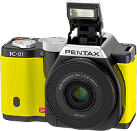 Pentax's K-01 compact system camera. Photo provided by Pentax. Click to read our Pentax K-01 review!