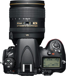 Nikon's D800 digital SLR. Photo provided by Nikon Inc. Click for a bigger picture!