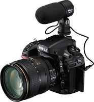 Nikon's D800 digital SLR. Photo provided by Nikon Inc. Click to read our Nikon D800 preview!