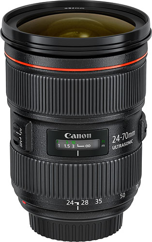 Canon's EF 24-70mm f/2.8L II USM lens. Photo provided by Canon USA Inc. Click for a bigger picture!