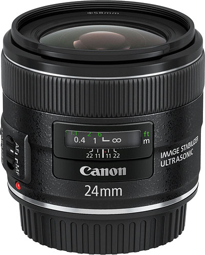 Canon's EF 24mm f/2.8 IS USM lens. Photo provided by Canon USA Inc. Click for a bigger picture!