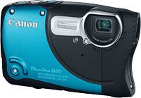Canon's PowerShot D20 digital camera. Photo provided by Canon USA Inc. Click to read our Canon D20 preview!