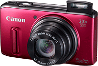 Canon's PowerShot SX260 HS digital camera. Photo provided by Canon USA Inc. Click for our Canon SX260 HS preview.