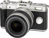 The Pentax Q Limited Silver. Click to read our Pentax Q preview!
