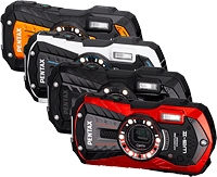 Pentax's WG-2 GPS and WG-2 digital cameras. Photo provided by Pentax Ricoh Imaging Americas Corp. Click for our Pentax WG-2 GPS preview!