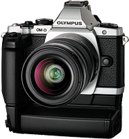 Olympus' E-M5 mirrorless camera. Click for our Olympus E-M5 review!