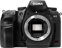 Sigma's SD1 digital SLR. Photo provided by Sigma. Click for our Sigma SD1 review!