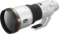 Sony's 500mm F4 G SSM lens prototype. Photo provided by Sony Electronics Inc.