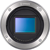 Sony's E-mount on the NEX-5N compact system camera. Source image provided by Sony  Electronics.