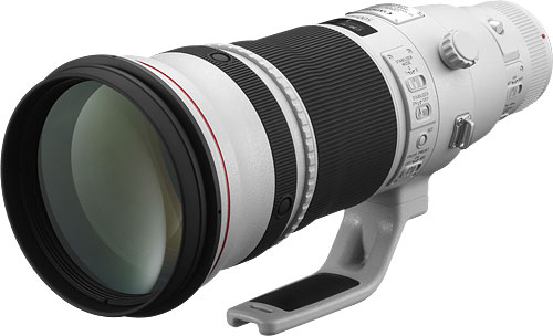 Canon's EF 500mm f/4L IS II USM lens. Photo provided by Canon Inc. Click for a bigger picture!