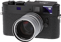Lecia M9-P digital camera. Copyright © 2012, The Imaging Resource. All rights reserved.
