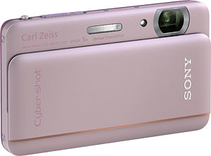 Sony's Cyber-shot DSC-TX66 digital camera. Photo provided by Sony Electronics Inc. Click for a bigger picture!