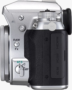 Pentax's K-5 Silver Special Edition camera. Photo provided by Pentax Ricoh Imaging Americas Corp. Click for a bigger picture!