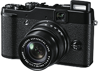 Fujifilm's X10 digital camera. Photo provided by Fujifilm. Click for our Fuji X10 review!