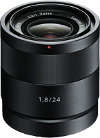 Sony's Carl Zeiss Sonnar T* E 24mm F1.8 ZA lens. Photo provided by Sony. Click to read our Carl Zeiss Sonnar T* E 24mm F1.8 ZA review!