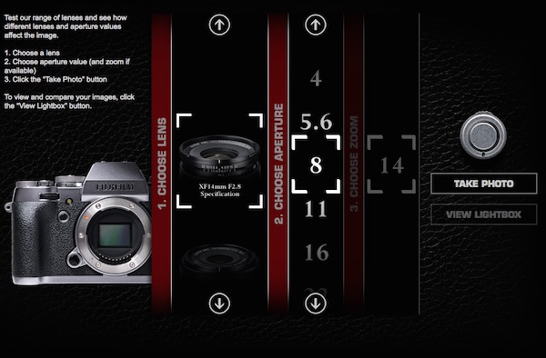 Fujifilm's releases interactive website that lets you test out X