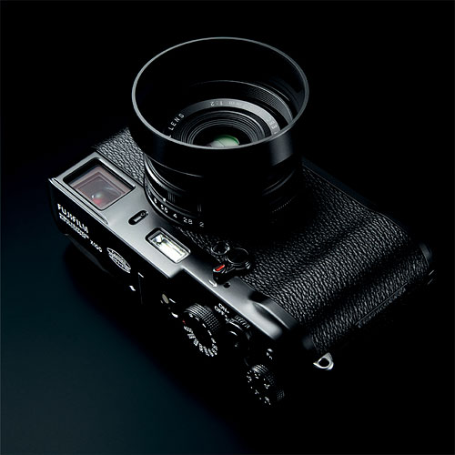 Fujifilm's X100 Black Limited Edition digital camera. Photo provided by Fujifilm. Click for a bigger picture!