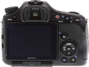 Sony's SLT-A57 Translucent Mirror camera. Copyright © 2012, Imaging Resource. All rights reserved. Click for a bigger picture!