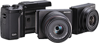 Ricoh's GXR camera system with lens modules. Image provided by Ricoh. Click to read our Ricoh GXR preview!