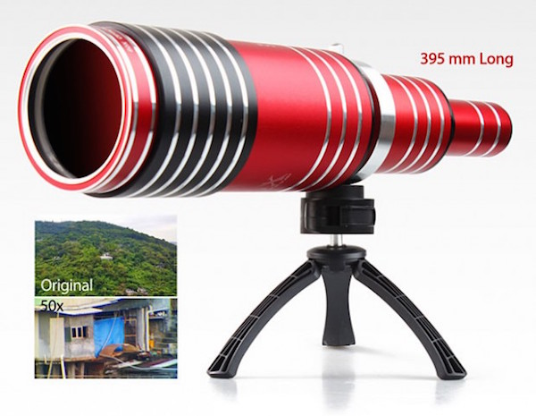 This telescopic lens gives your smartphone 80x optical magnification