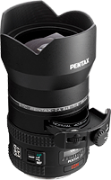 The smc Pentax DA 645 25mm f/4 AL [IF] SDM AW lens. Photo provided by Pentax Ricoh Imaging Americas Corp.