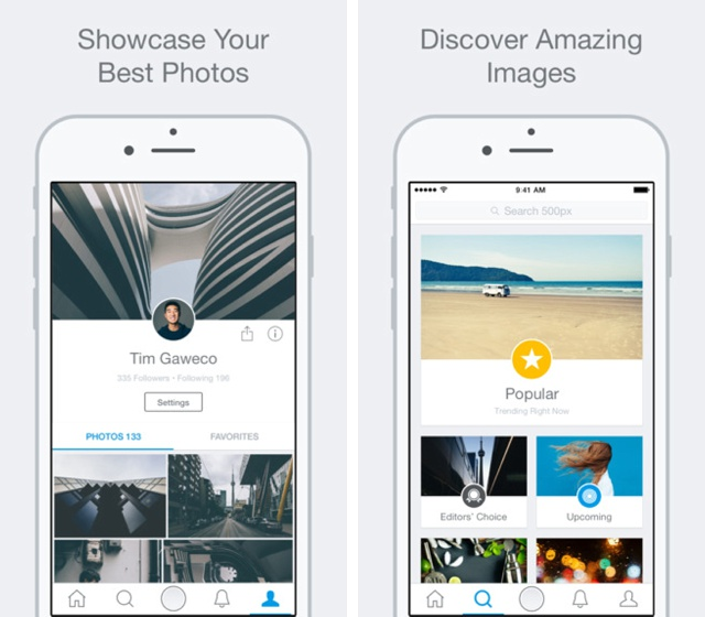 500px updates its iOS app, focuses on simplicity, sharing