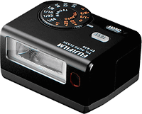 Fujifilm's EF-X20 flash strobe. Photo provided by Fujifilm Corp.