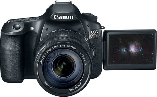 Canon's EOS 60Da digital SLR. Photo provided by Canon. Click for a bigger picture!