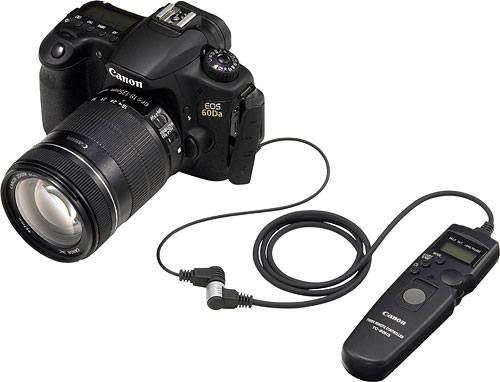 Canon's EOS 60Da digital SLR with TC-80N3 Timer Remote Controller. Photo provided by Canon. Click for a bigger picture!