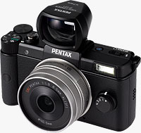 The Pentax Q compact system camera. Photo provided by Pentax Imaging Co. Click to read our Pentax Q review.