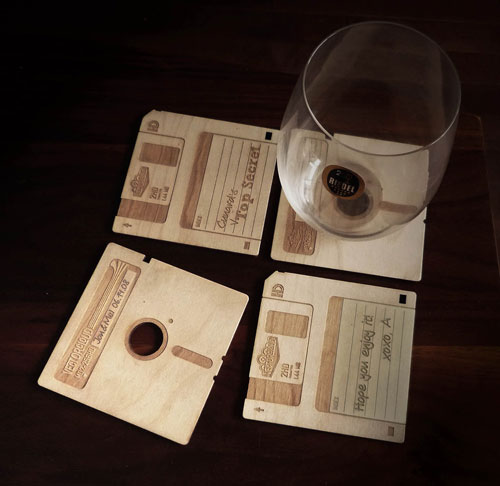 Floppy-disk-coasters