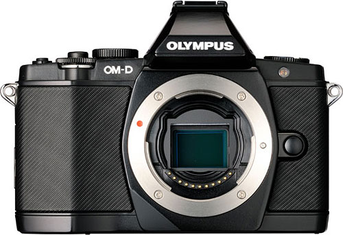 Olympus' E-M5 compact system camera. Photo provided by Olympus. Click for a bigger picture!