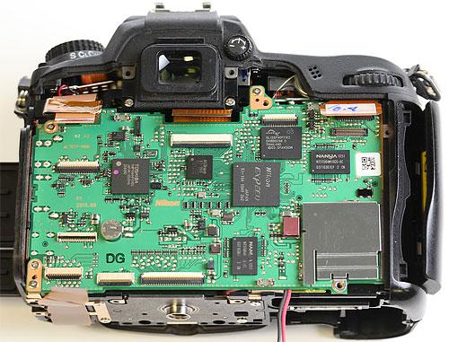 Nikon D7000 teardown. Photo copyright © 2012, Roger Cicala. Used by permission.