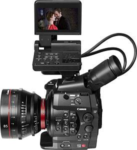 Canon's Cinema EOS-C300 video camera. Photo provided by Canon Inc. Click for a bigger picture!