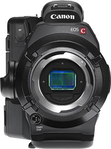 Canon's Cinema EOS-C300 PL video camera. Photo provided by Canon Inc. Click for a bigger picture!